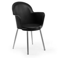 Metal Ayaklı İç ve Dış Mekan Siyah Otel Restoran Cafe Ev Plastik Enjeksiyon Sandalye