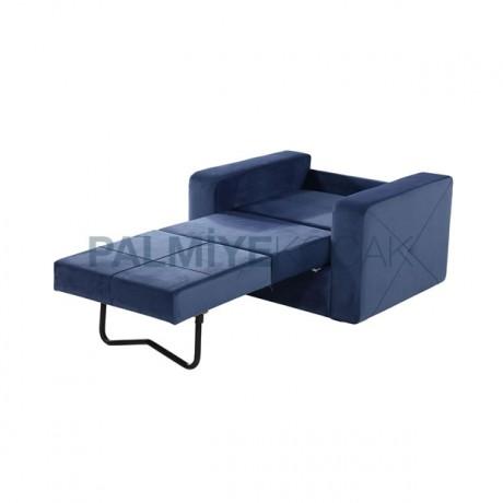Mavi Kumaş Kaplı Refakatçi Koltuğu - hkv6862