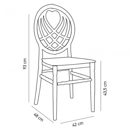 Düğün Salonu Polikarbon İstiflenebilir İç ve Dış Mekan Şeffaf Sandalye - tfs4074