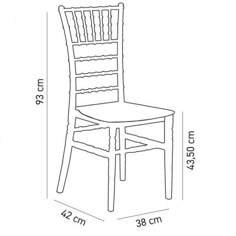 Organizasyon Şeffaf Düğün Salonu Sandalyesi - tfs3000
