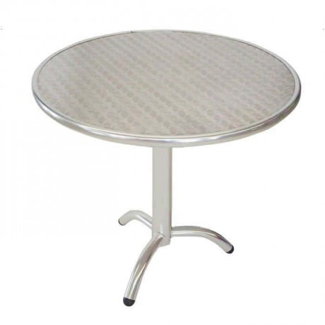 80 Diameter Round Stainless Table - amb02
