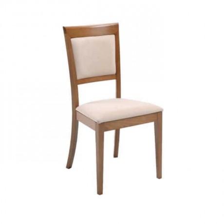 Açık Eskitme Krem Döşemeli Restoran Sandalyesi - msag25