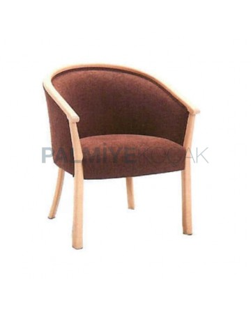 Open Oak Painted Armchair