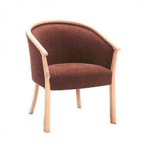 Açık Meşe Boyalı Kollu Sandalye