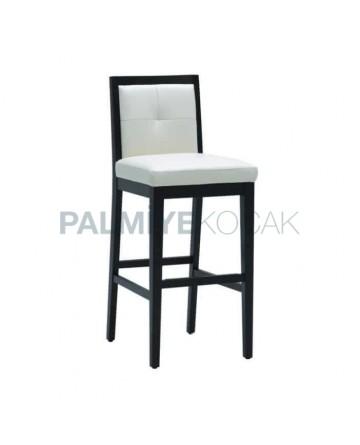 Açık Ahşaplı Modern Bar Sandalye