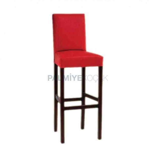Modern Bar Chair with Wooden Leg