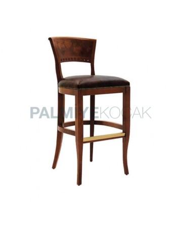Ahşap Sırtlı Bar Sandalye