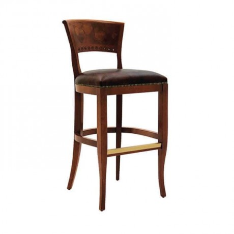 Wooden Backed Bar Chair - abs48