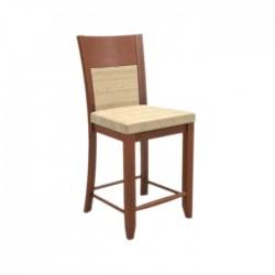 Beige Fabric Wooden Bass Chair