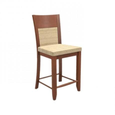 Bej Kumaşlı Ahşap Bas Sandalye - abs23