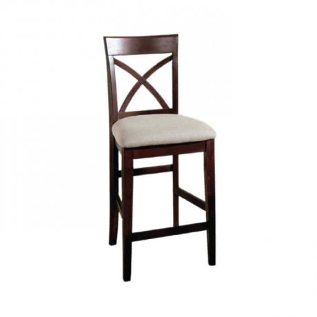 Cross Stick Modern Wooden Bar Chair - abs10