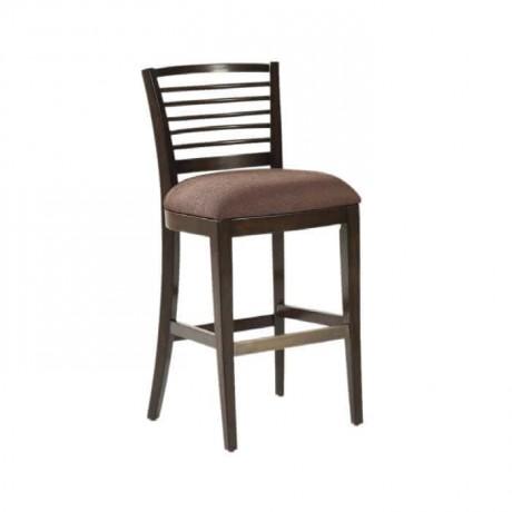 Çıtalı Modern Ahşap Bar Sandalyesi - abs24