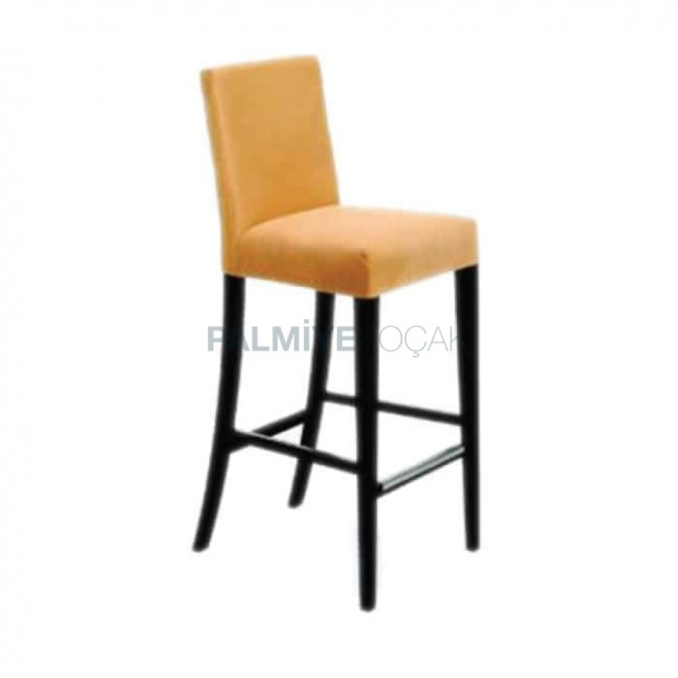 Modern Bar Chair with Mustard Fabric