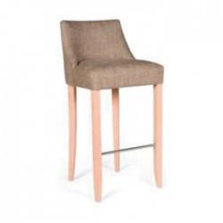 Brown Fabric Bar Chair