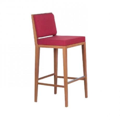 Kırmızı Kumaşlı Modern Bar Sandalyesi - abs26