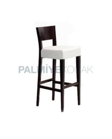Modern White Fabric Bar Chair