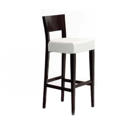 Modern White Fabric Bar Chair - abs53
