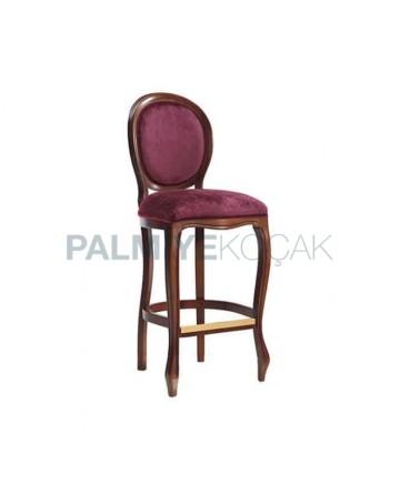 Plum Colorful Fabric Bar Chair