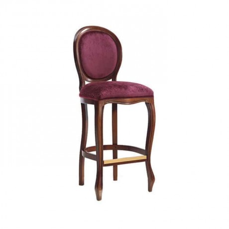 Plum Colorful Fabric Bar Chair - abs43