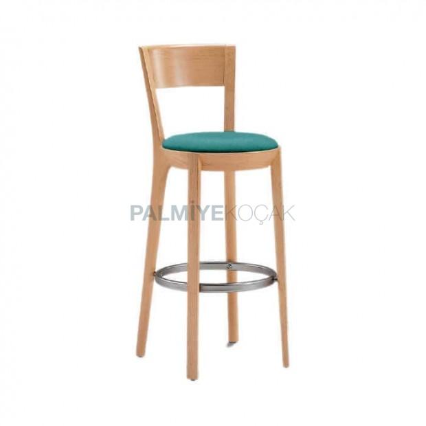 Natural Wooden Bar Chair