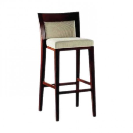 Modern Bar Chair with Backrest Fabric Upholstered - abs06