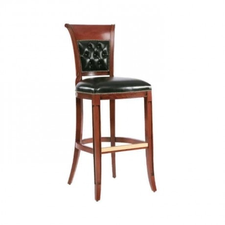Quilted Black Bar Chair