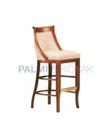 Half Arm Wooden Bar Chair