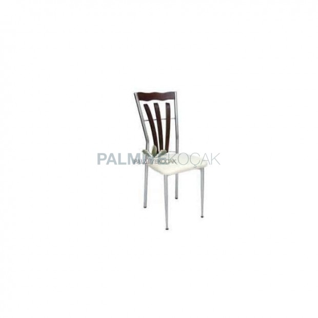 Wooden Decorative Chromed Chair