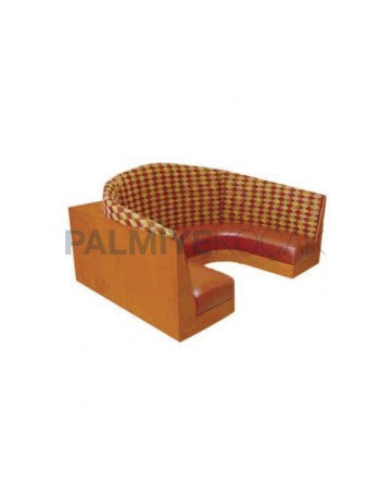 Wooden Plated Fabric Upholstered Loca