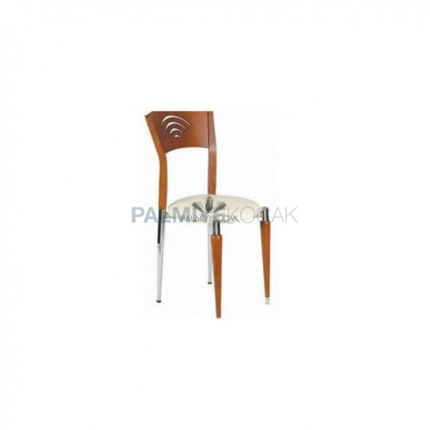 Wooden Chrome Luxury Chair