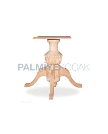 Ahşap Kayın Ağacından İmal Tornalı Masa Ayağı
