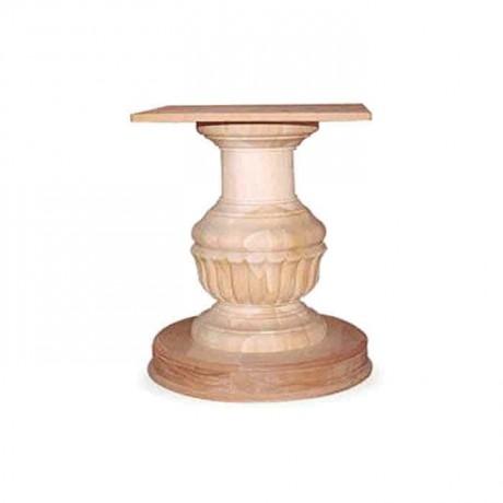Ahşap Oymalı Yuvarlak Tornalı Masa Ayağı - kma3046