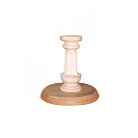 Wooden Turned Round Based Dinner Table Leg - kma3052