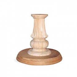 Classic Turned Wooden Table Leg