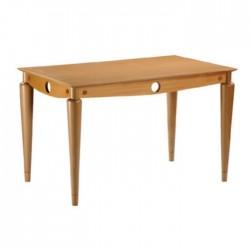 Polished Wooden MDesken Quadruple Hotel Table