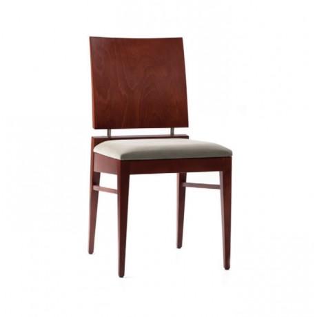 Natürel Boyalı Lükens Ayaklı Bordo Kumaş Döşemeli Klasik Sandalye - ksa01