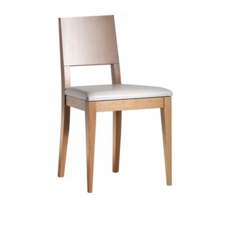 Ahşap Natural Boyalı Modern Ahşap Sandalye - msag06