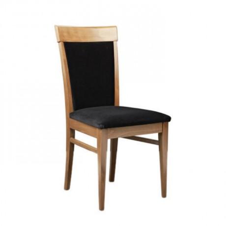 Ahşap Natural Boyalı Modern Restoran Sandalyesi - msag122