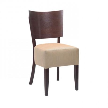 Bej Derili Eskitme Boyalı Otel Odası Sandalyesi - msag76