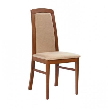 Bej Döşemeli Ahşap Gürgen Modern Sandalye - msag134