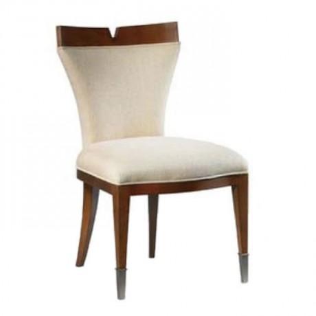 Bej Kumaş Döşemeli Ahşap Modern Sandalye - msad33