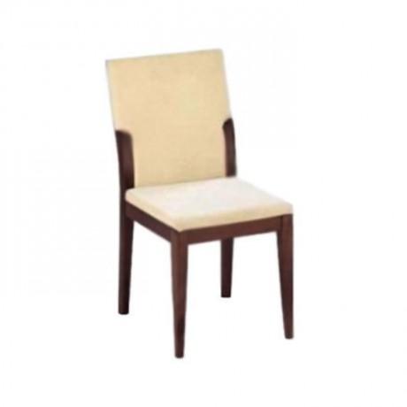 Bej Kumaşlı Koyu Ceviz Boyalı Modern Sandalye - msag19