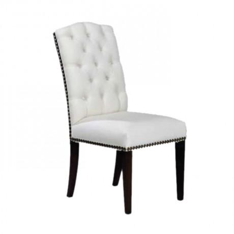 Beyaz Deri Döşemeli Kapitoneli Hastane Sandalyesi - msag71
