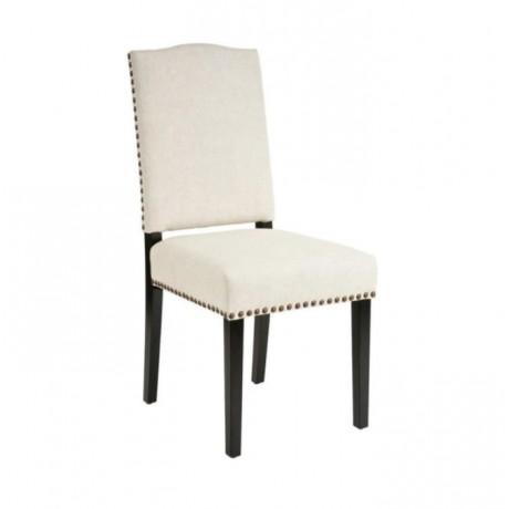 Beyaz Deri Döşemeli Modern Salon Sandalyesi - msaf10