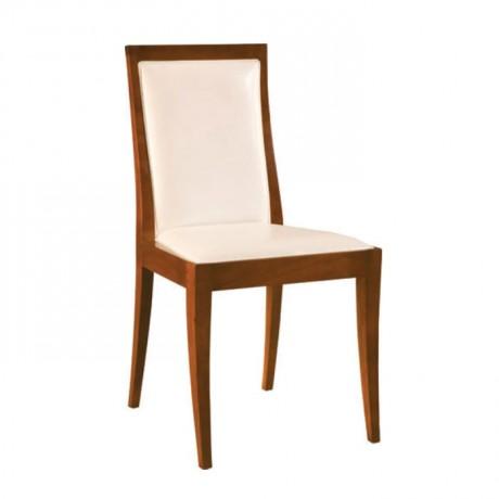 Beyaz Derili Açık Eskitme Modern Sandalye - msag111