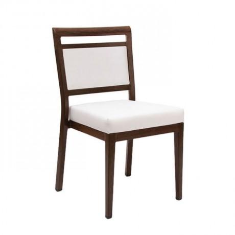 Beyaz Döşemeli Ahşap Sandalye - msag118
