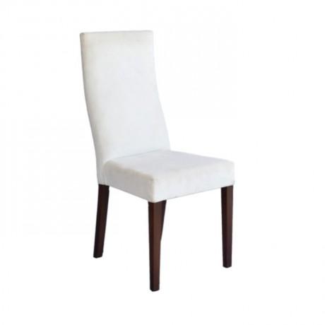 Beyaz Kumaş Döşemeli Restoran Sandalyesi - msab241