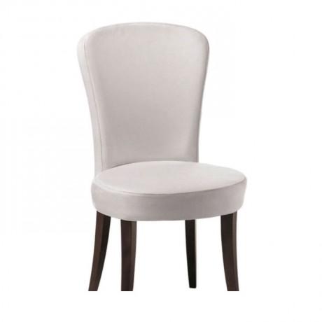 Beyaz Kumaş Döşemeli Yuvarlak Modern Sandalye - msad18