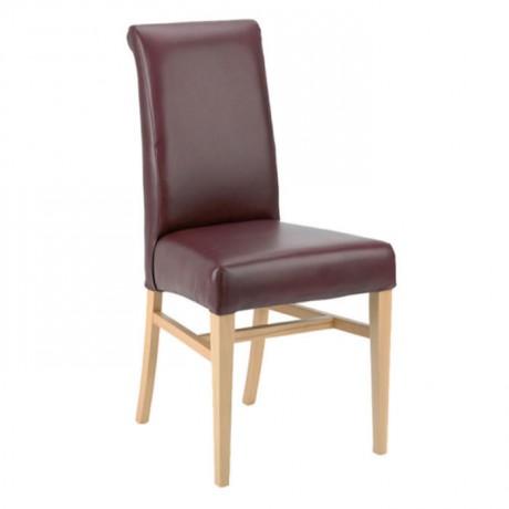 Bordo Deri Döşemeli Restoran Sandalyesi - msaf29