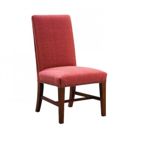 Bordo Kumaş Döşemeli Açık Eskitme Boyalı Modern Sandalye - msag82